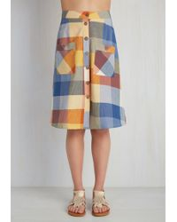 Mata Traders Swap Meet Sweetheart Skirt In Sunny Plaid - Multicolor