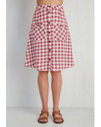 Mata Traders - Swap Meet Sweetheart Skirt In Berry Gingham - Lyst