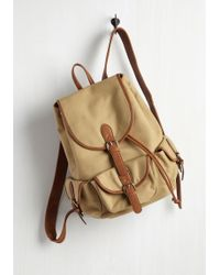 Triple 7 - Backpack To The Future Bag In Tan - Lyst