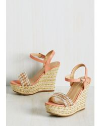 Top Guy International - Glam On A Mission Wedge In Peach - Lyst