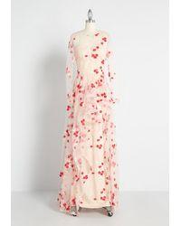 Bariano Cherry Blossom Skies Maxi Dress - Pink