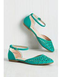 Machi Footwear - Skip It, Skip It Good Flat In Teal - Lyst