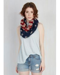 Cilla Collection | Red, White, And Views Circle Scarf | Lyst