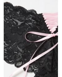 Leg Avenue - A Change Of Lace Panties In Pink - Lyst