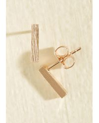 ModCloth - Minimalist Quintessence Earrings - Lyst