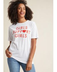 ModCloth - She Eye To Eye Graphic Tee In White - Lyst