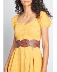 ModCloth The Braided Way Stretch Belt - Brown
