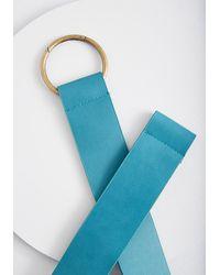ModCloth Has A Nice Ring Stretch Belt - Blue