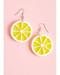 Collectif - Aim To Squeeze Lemon Earrings - Lyst