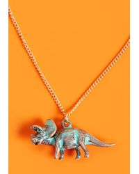 ModCloth - Rawr Talent Pendant Necklace In Triceratops - Lyst