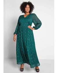 ModCloth An Enchanted Evening Maxi Cotton Dress - Green