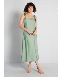 Hutch Modcloth X Tie-shoulder Midi Dress - Green