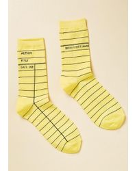 Out Of Print - Periodical Perfection Socks - Lyst