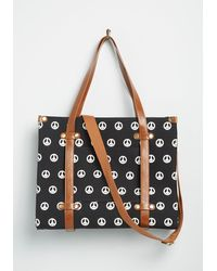 ModCloth Camp Director Zipped Tote By - Black