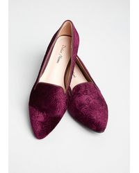 ModCloth Oh-so-baroque Velvet Loafers - Multicolor