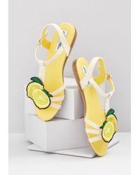 6e27a909a97e Lyst - Dolce   Gabbana Embellished Lemon Flip Flops in Yellow