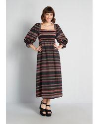 Hutch Forevermore Cottagecore Midi Dress - Black