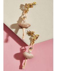 Les Nereides - Posh Pirouette Earrings In Mauve - Lyst