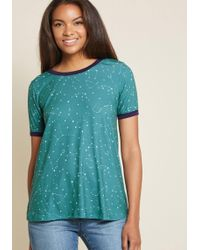 ModCloth - Here's To Tuesday Ringer Tee - Lyst