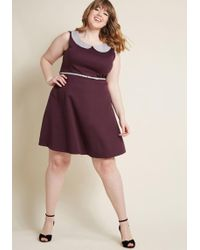 ModCloth | Work To Play Dress In Eggplant | Lyst