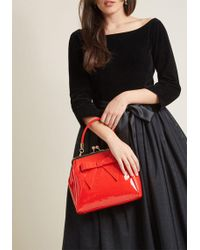 Banned - High-shine Profile Bag In Red - Lyst