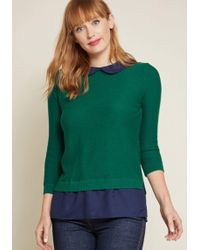 ModCloth - Classroom Charisma Sweater In Forest - Lyst