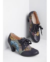 ModCloth Leaving My Style Mark Oxford Heel - Multicolor