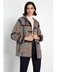 ModCloth Make It A Duffle Coat - Gray