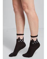 ModCloth My Style Mews Socks - Size Os - Black