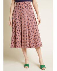Effie's Heart - Next On Deck Midi Skirt - Lyst