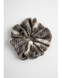 ModCloth Elevated Updo Tweed Scrunchie - Classic - Black