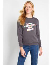 Ban.do Look Forward Graphic Sweatshirt - Black
