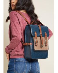 ModCloth - Authentically Academic Backpack In Navy - Lyst