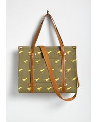 ModCloth Camp Director Zipped Tote By - Green