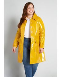 ModCloth Drops Of Sunshine Raincoat - Yellow