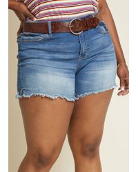 ModCloth - Chill At Will Denim Shorts - Plus Size - Lyst