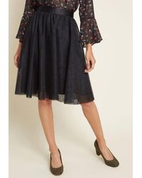 ModCloth Tulle Of The Trade A-line Skirt - Black