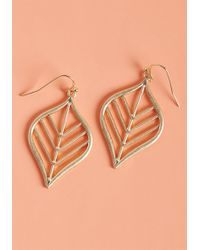 ModCloth - Leaf For Good Earrings - Lyst