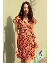Hutch Modcloth X Party Prowl Wrap Dress - Orange