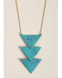 ModCloth - Tri And Succeed Pendant Necklace - Lyst