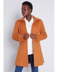 ModCloth Ladylike Lately Collared Coat - Orange