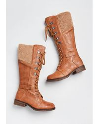 ModCloth No Stomping Me Lace-up Boot - Brown