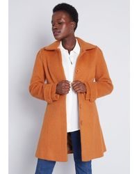 ModCloth Ladylike Lately Collared Coat - Brown