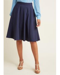 ModCloth - Just This Sway Skirt In Navy - Lyst