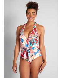 ModCloth The Brooke One-piece Swimsuit - Red
