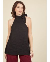 ModCloth | Diligent Distinction Sleeveless Top In Black | Lyst
