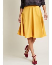 ModCloth - Just This Sway Midi Skirt In Goldenrod - Lyst