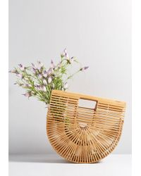 ModCloth - Some Sunny Day Bamboo Cage Bag - Lyst