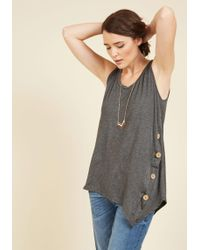 ModCloth | The Picture Of Quaint Tank Top In Smoke | Lyst