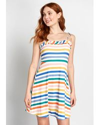 ModCloth For The Frill Of It A-line Cotton Dress - Black